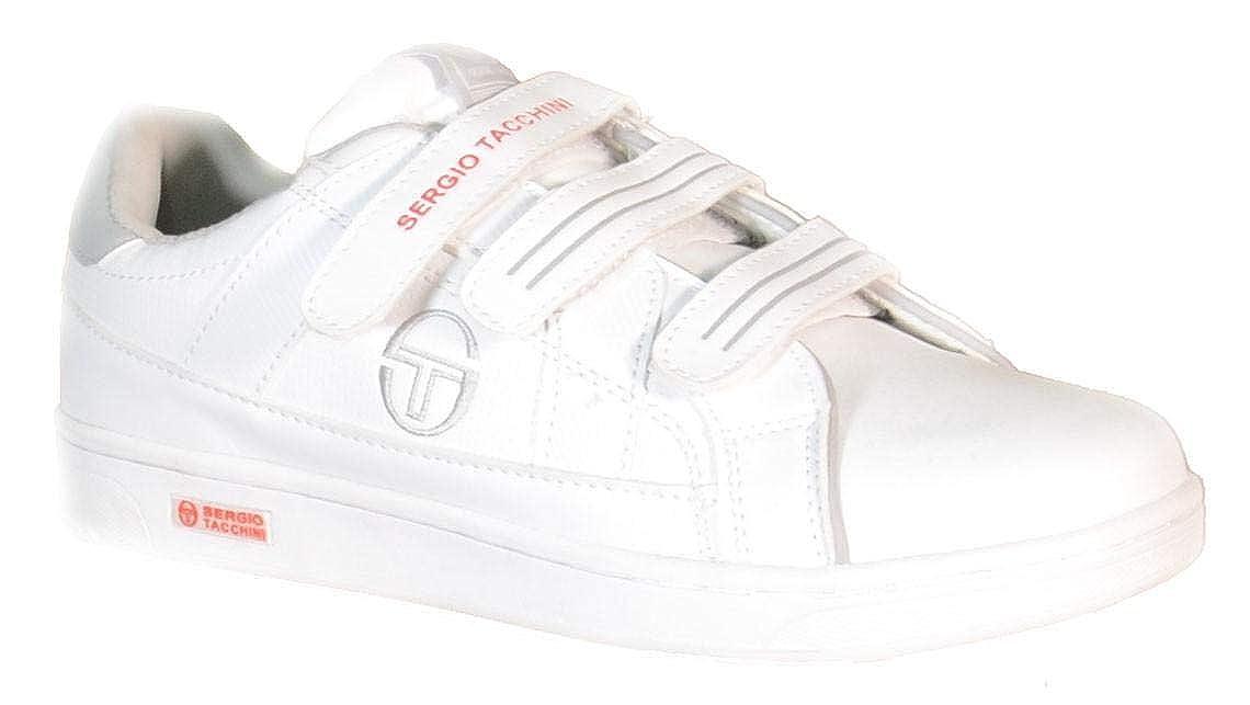 Sergio tacchini scarpe sportive donna bianche pelle strappi centurion