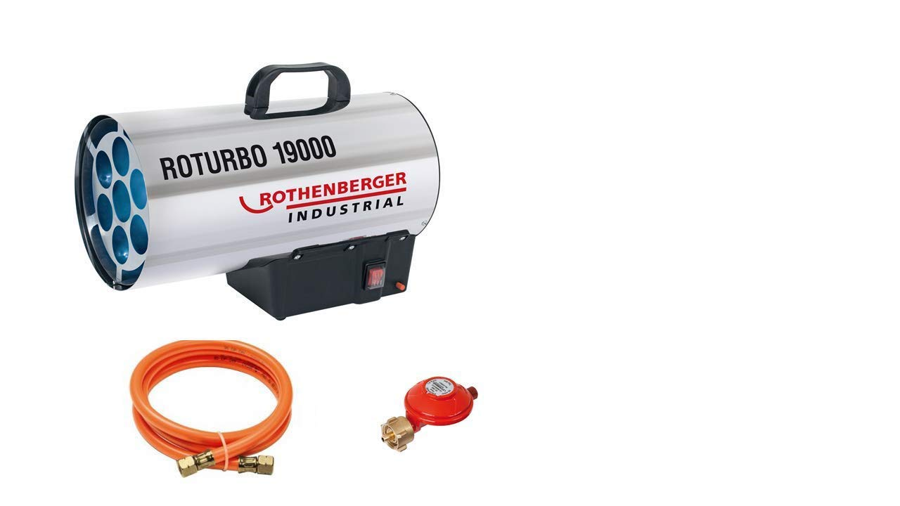 Rothenberger Industrial 1500000051 RoTurbo - Soplador con encendido piezoeléctrico, manguera y regulador, 18,2 kW