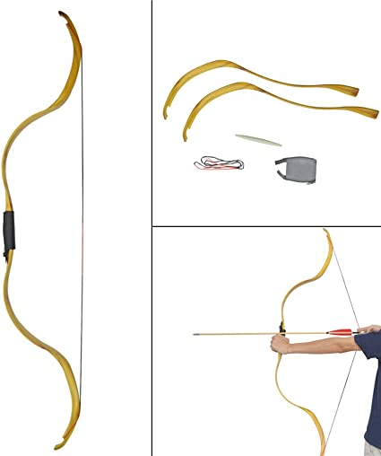 Archery Bow Strings Recurve Traditional Arrows Hunting Longbow Sports Outdoor