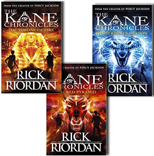 The Kane Chronicles Collection Rick Riordan 3 Books Set Red Pyramid,Throne Fire
