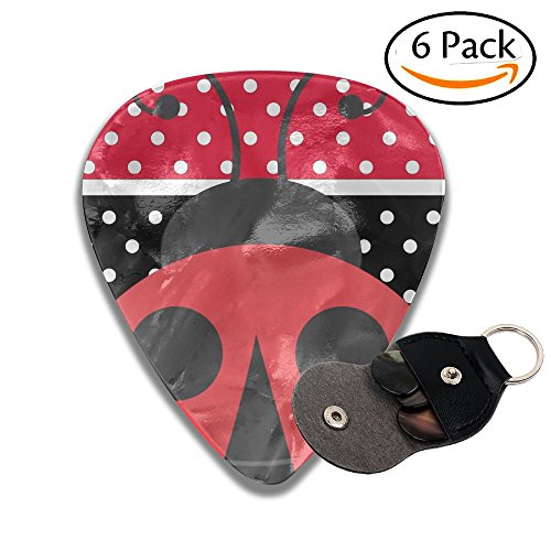 Grghtrghlsd Red And Black Stripe Speckle Ladybirds Classic Guitar Picks For Electric/acoustic Guitar,and Bass