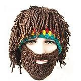 FUGUS Creative Knit Bearded Hats Handmade Beard Wig Warm Caps