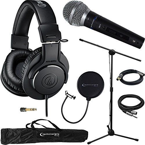 Audio Technica Professional Headphones ATH M20X Microphone