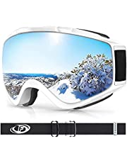 Ski Goggles, Findway Anti-UV, OTG Design & Anti-Fog Snow Goggles for Adult Youth