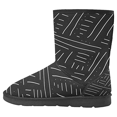 Unique Multi Backdrop Stile Snow InterestPrint Womens Minimal Abstract in Draw Designed 1 Hand Boots Comfort Winter Boots Made Pgatxwg