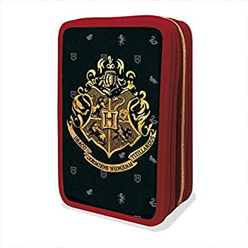 Estuche con tres cremalleras, original de Harry Potter, Gut, colección escolar 2019/2020: Amazon.es: Oficina y papelería