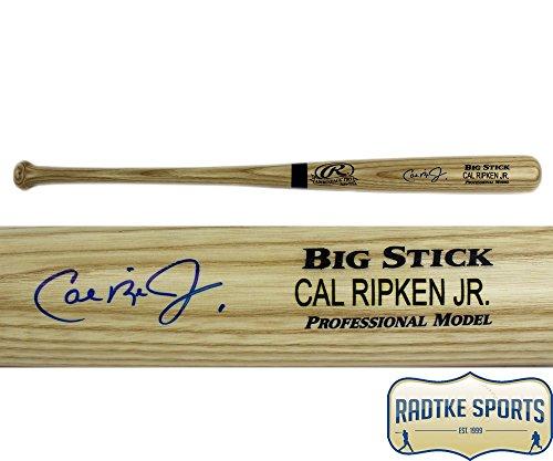 Cal Ripken Jr Autographed/Signed MLB Baltimore Orioles Engraved Blonde (Blonde Engraved Bat)