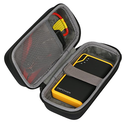 co2CREA Stockage Étui Housse pour DBPOWER DJS40 300A Peak 8000mAh Booster Batterie Portable Jump Starter Démarreur de Voiture et Fonction Batterie Externe