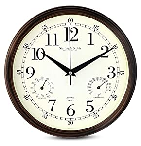 Amazoncom 9 Inch Silent Wall Clocks Modern Designs with