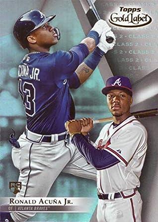 Amazoncom 2018 Topps Gold Label Class 2 Baseball 99 Ronald Acuna