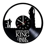 Everyday Arts Stephen King The Dark Tower Design Vinyl Record Wall Clock - Get Unique Bedroom or Garage Wall Decor - Gift Ideas for Friends, Brother - Darth Vader Unique Modern Art