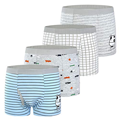 slaixiu Soft Cotton Kids Underwear Cartoon Boys Boxer Briefs 4-Pack (UW75-No.8-110)