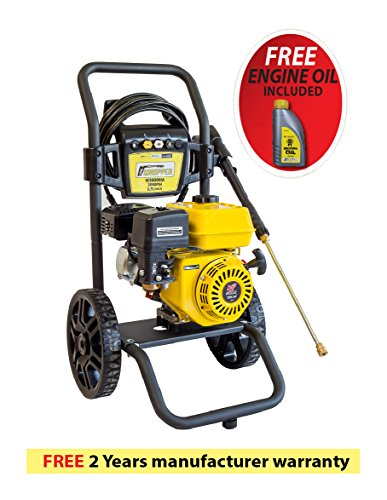 Premium Waspper W3000HA 3000PSI 2.8 GPM Gas Powered Cold Water High Pressure Power Washer Gasoline Easy Start Axial Aluminum Pump Small Light Durable Frame and Wheels