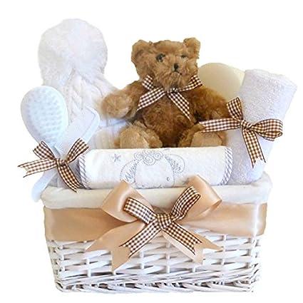 Mi primer oso cesta de mimbre Unisex Bebé/bebé cesta/unisex bebé ...