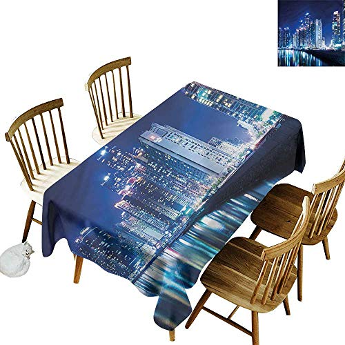 Washable Tablecloth Urban Busan City Sky South Korea Party Decorations Table Cover Cloth 60