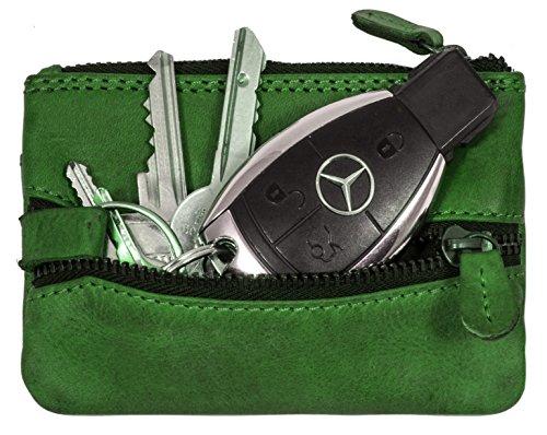 De Crédit Hill Petit Key 2 marron Cuir Vachette Cas Burry Vert Véritable Avec Porte Carte Case Portefeuille En Porte clés OvrxZBgqOw