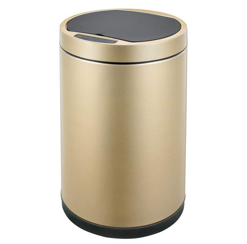 再利用可能なゴミ箱 室内環境ゴミ箱スマートゴミ箱、自宅の居間寝室トイレ浴室ステンレス鋼ゴミ箱 (サイズ : 9L) 9L  B07SWW765W