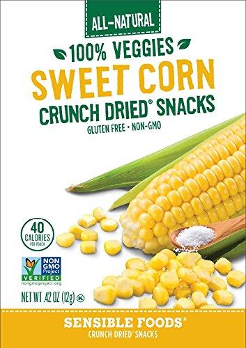 Sensible Foods Fruit Snacks, Sweet Corn, 48 Count (Pack of (Freeze Dried Sweet Corn)