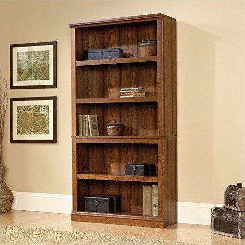 Sauder Select 5 Shelf Bookcase in Washington Cherry Finish by Sauder