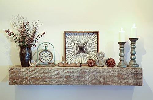 Cheap New England Classic 10″ Deep x 72″ Long Nantucket Rustic Wood Mantel Shelf Beach House Gray
