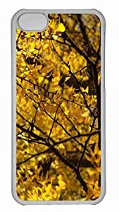 Customized iphone 5C PC Transparent Case - Yellow Ginkgo Tree Personalized Cover