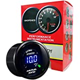 HOTSYSTEM Universal Electronic Air/Fuel Ratio Monitor Meter Gauge Blue Digital LED 2inches 52mm Car Vehicle Automotive