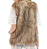 LIJYYJ Women's Fashion Autumn And Winter Warm Short Faux Fur Vests GreyX-S cosy