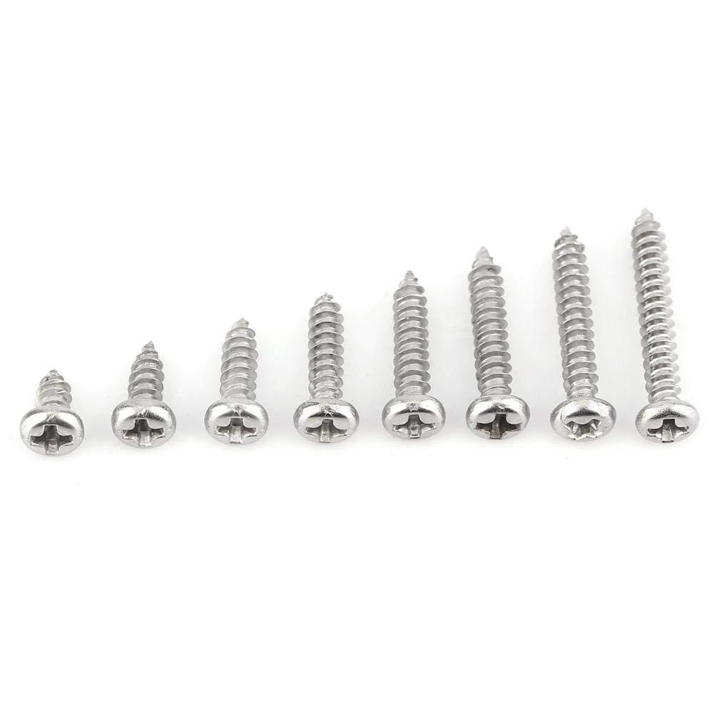 200pcs M3 Vis Autotaraudeuses en Acier Inoxydable Vis Autotaraudeuses /à T/ête Plate//Cylindrique M3 x 6//8//10//12//14//16//18//20mm Flat head