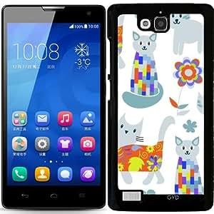 Funda para Huawei Honor 3C - Patrón De Los Gatos by Luizavictorya72
