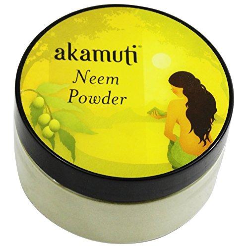 AKAMUTI - Pure Neem Powder - Purifying Treatment for Face & Scalp - Organic Vegan -