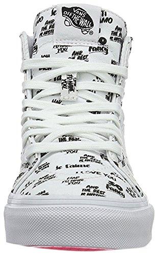 Vans Unisex Vans SK8-Hi Slim Zip Sneaker Weiß schwarz