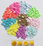 WellieSTR { 150 sets 10 Colors mixed Kit } KAM Star Shaped Plastic Snap Button & Tool Fastener Buttons For Baby Diaper