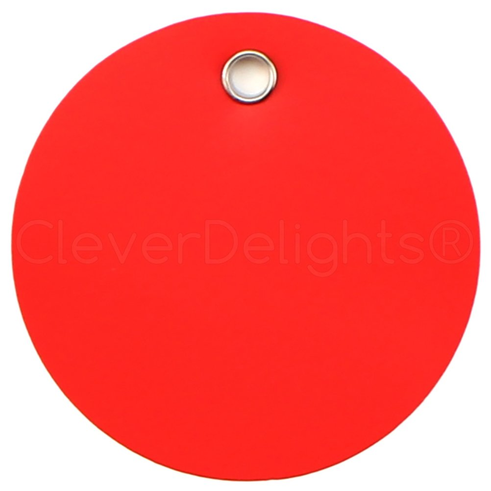 "Inventory Tag Circle Round Tearproof 100 Yellow Plastic Tags 3/"" Diameter"