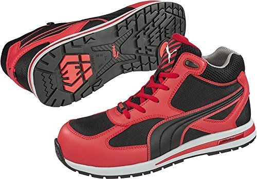 PUMA[プーマ]安全靴【Fulltwist】(プーマセーフティハイカット)《012-Fulltwist》 B01B2LOL5U レッドミッド(赤) 24.5 cm