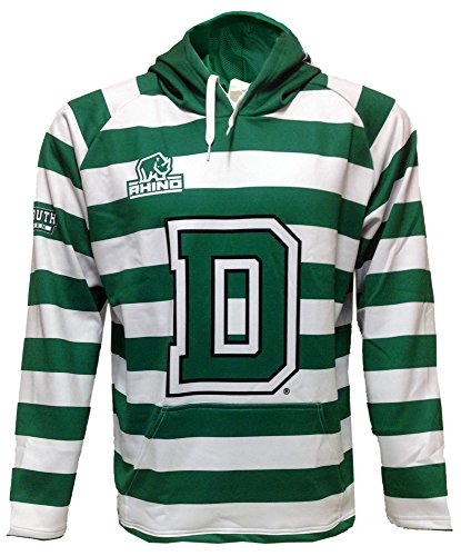 Rhino Rugby Dartmouth College Big Green - Hoodie Sweatshirt, XX-Large (Replica Personalized Jersey Official Away)