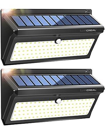 Focos Solares Exterior,100LED Luces Solares Led Sensor Movimiento de Súper Brillantes con Gran Ángulo