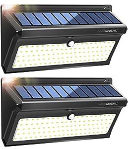 Luscreal Lampe Solaire Exterieur Eclairage Puissant Et Detecteur