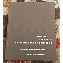 Calculus of Elementary Functions (Eagle Mathematics)