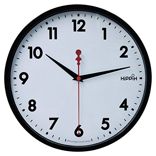 "Hippih 10"" Silent Quartz Decorative Wall Clock with Glass Co"