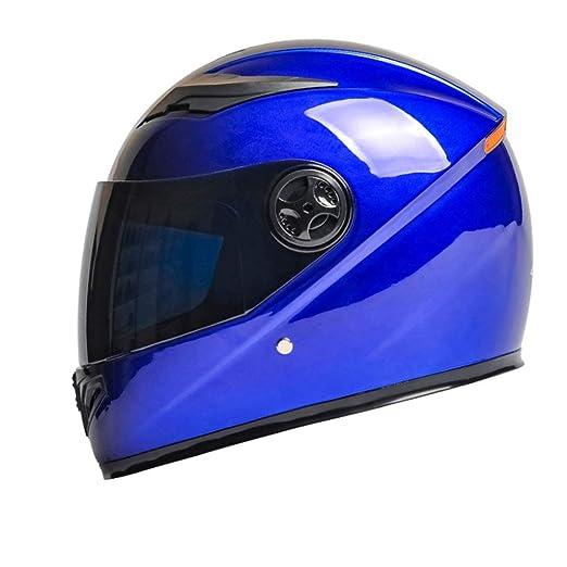 YangMi Helm Elektrischer Motorradhelm M/änner Und Frauen Vier Jahreszeiten Universal Integralhelm Winter Schwarzer Tee Anti-Fog Helm Farbe : Blau, gr/ö/ße : 32x25x26cm