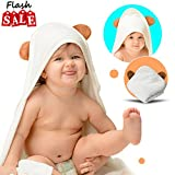 Organic Bamboo Hooded Baby Towel | Hands-Free Baby Towels...