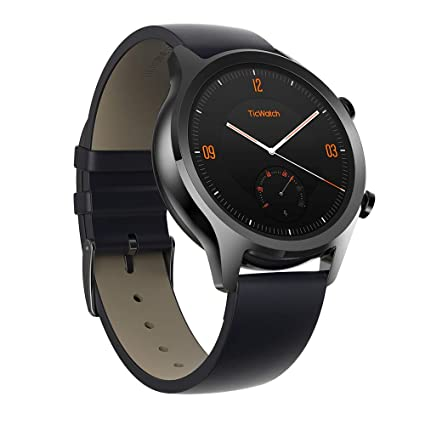 Ticwatch C2, Wear OS Smartwatch for Women with Build-in GPS, Waterproof, NFC Payment, for iOS and Android (Black)