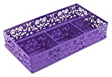 EasyPAG Carved Hollow Flower Pattern Collection Desk Drawer Accessories Organizer Purple