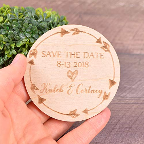 Save the Date Magnet Arrow savethedate magnets Wedding invitation SET of 20