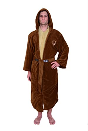 Image Unavailable. Image not available for. Color  Star Wars Jedi Master  Fleece Hooded Bathrobe ... 7d39b796b