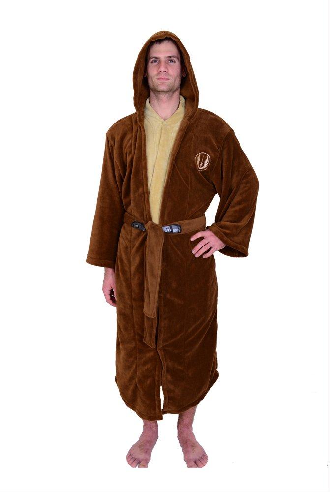 6e4d2db7bf Star Wars Jedi Master Fleece Hooded Bathrobe Robe Brown product image