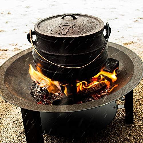 BBQ-Toro Potjie I Marmite/cocotte différentes Tailles au Choix I Faitout en Fonte I sud-Africain Dutch Oven (Potjie #1 (env. 3 Litre))