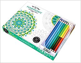 Vive Le Color Harmony Adult Coloring Book And Pencils Color Therapy Kit Abrams Noterie