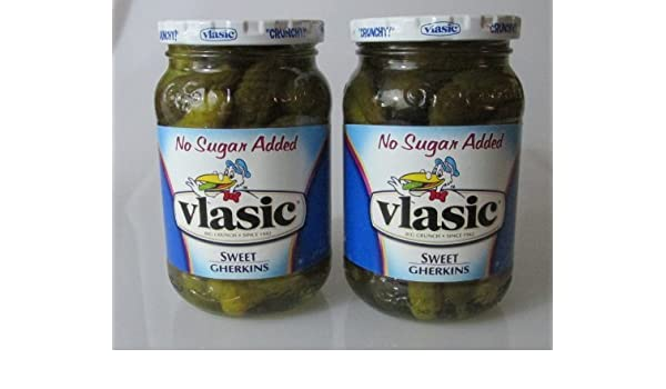 Vlasic No Sugar Added Sweet Gherkins Pickles by Vlasic: Amazon.com: Grocery & Gourmet Food