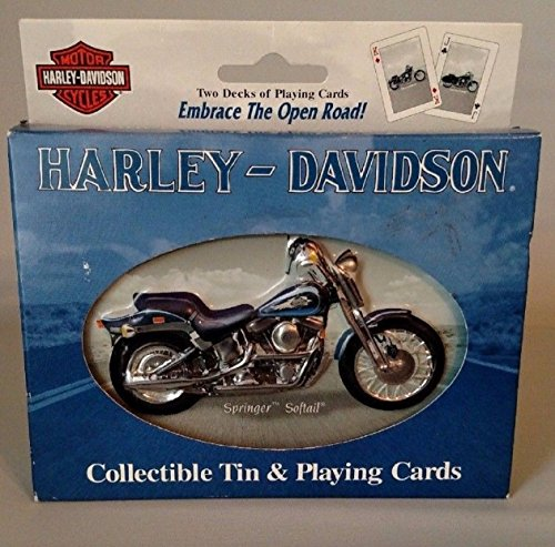 Harley Davidson Playing Cards and Collectible Tin